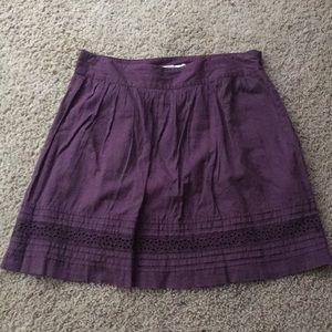 The loft purple mini skirt